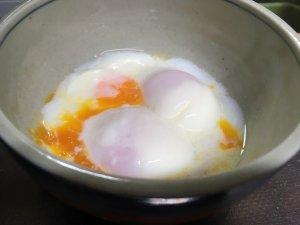 美味しそうに出来た温泉卵