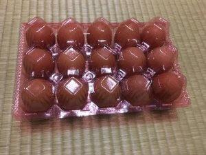15個入りの卵のパック